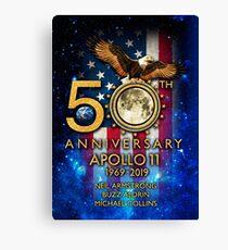 Lienzo 50 aniversario de la llegada a la luna del Apolo 11 1969-2019