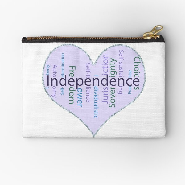 Independence Heart - Keeping It All Together (Blank Background) Zipper Pouch
