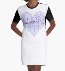 Independence Heart - Keeping It All Together (Blank Background) Graphic T-Shirt Dress