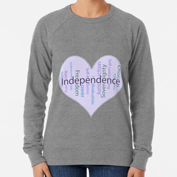 Independence Heart - Keeping It All Together (Blank Background) Lightweight Sweatshirt