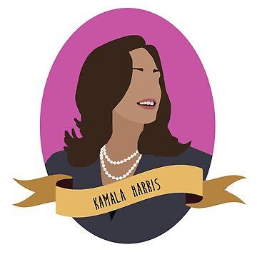 Kamala Harris Rundes Porträt von thefilmartist