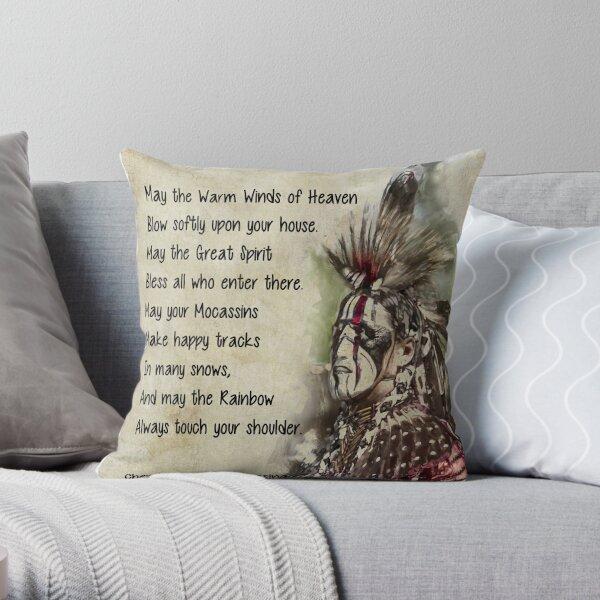 Cherokee Prayer Blessing  Throw Pillow