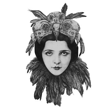Dame Vogelschädel von Total-Cult