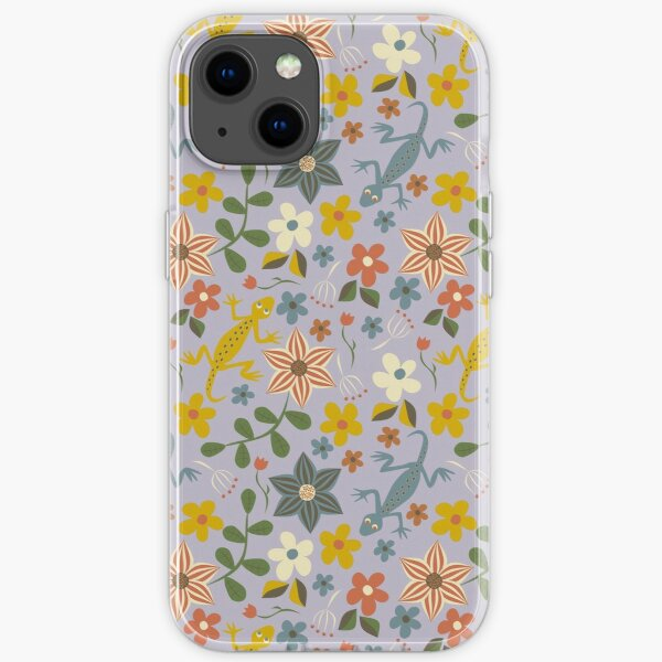 Lizards, Flowers, and Leaves Galore! iPhone Soft Case
