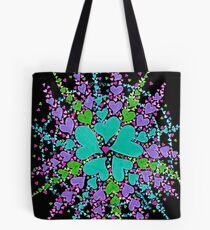 Web Of Life (on black) Tote Bag