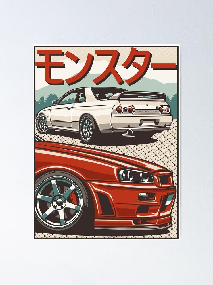 Alternate view of Monster Skyline GTR R32 & R34 Poster