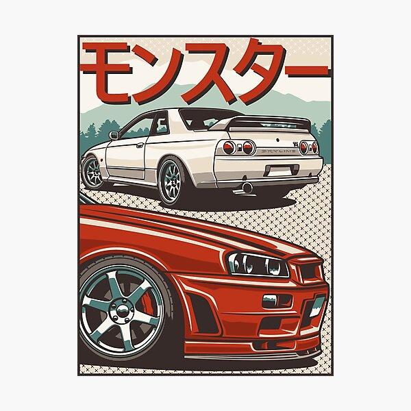Monster Skyline GTR R32 & R34 Photographic Print