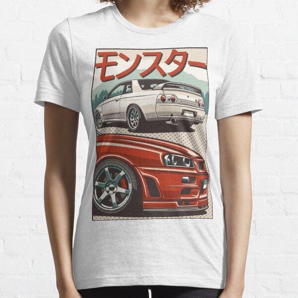 Monster Skyline GTR R32 & amp; R34 Essential T-Shirt