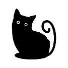 Black cat looking you by lyovajan