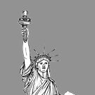 Statue Of Liberty ( grey version ) by Adam Regester