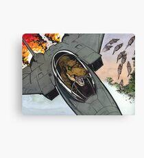 T-Rex Jet Pilot Canvas Print