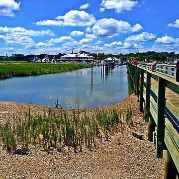 Inlet Low Tide Beside Boardwalk by JoeyOConnor