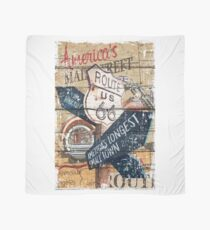 American main street US ROUTE 66 artwork Scarf