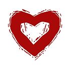 Grunge Herz von Elsbet