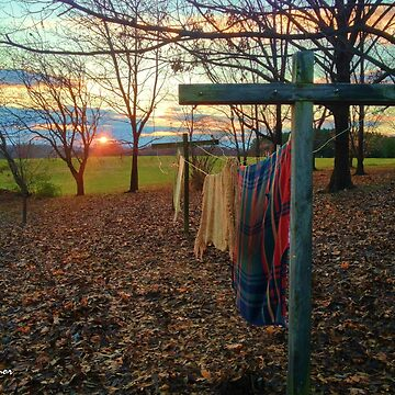 Country Clothesline At Sunset by JoeyOConnor