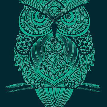 Woodcut Vintage Owl by machmigo