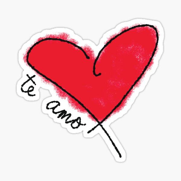 Te amo te amo en español Pegatina