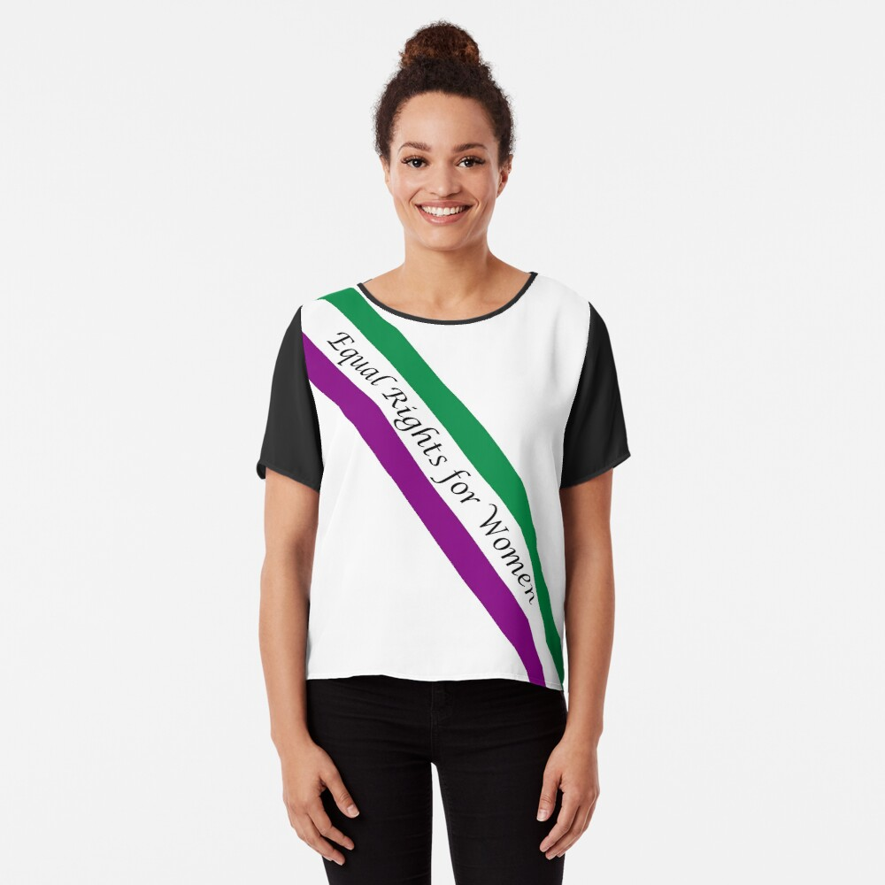 EQUAL RIGHTS FOR WOMEN - CLASSIC SASH DESIGN Chiffon Top