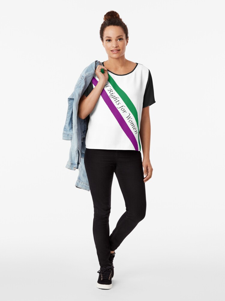 Alternate view of EQUAL RIGHTS FOR WOMEN - CLASSIC SASH DESIGN Chiffon Top