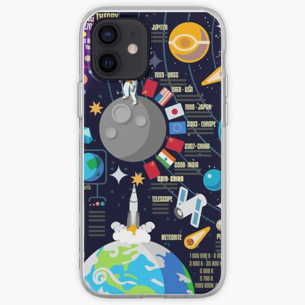 Space Universe Infographics Big Bang iPhone Soft Case