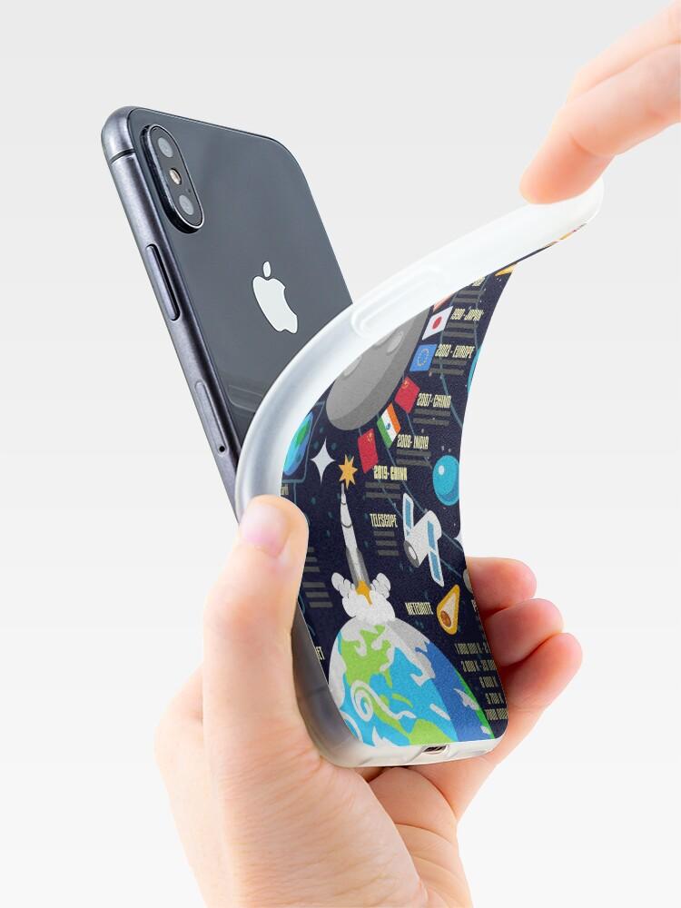 Alternative Ansicht von Weltraumuniversum Infographics Big Bang iPhone-Hülle & Cover