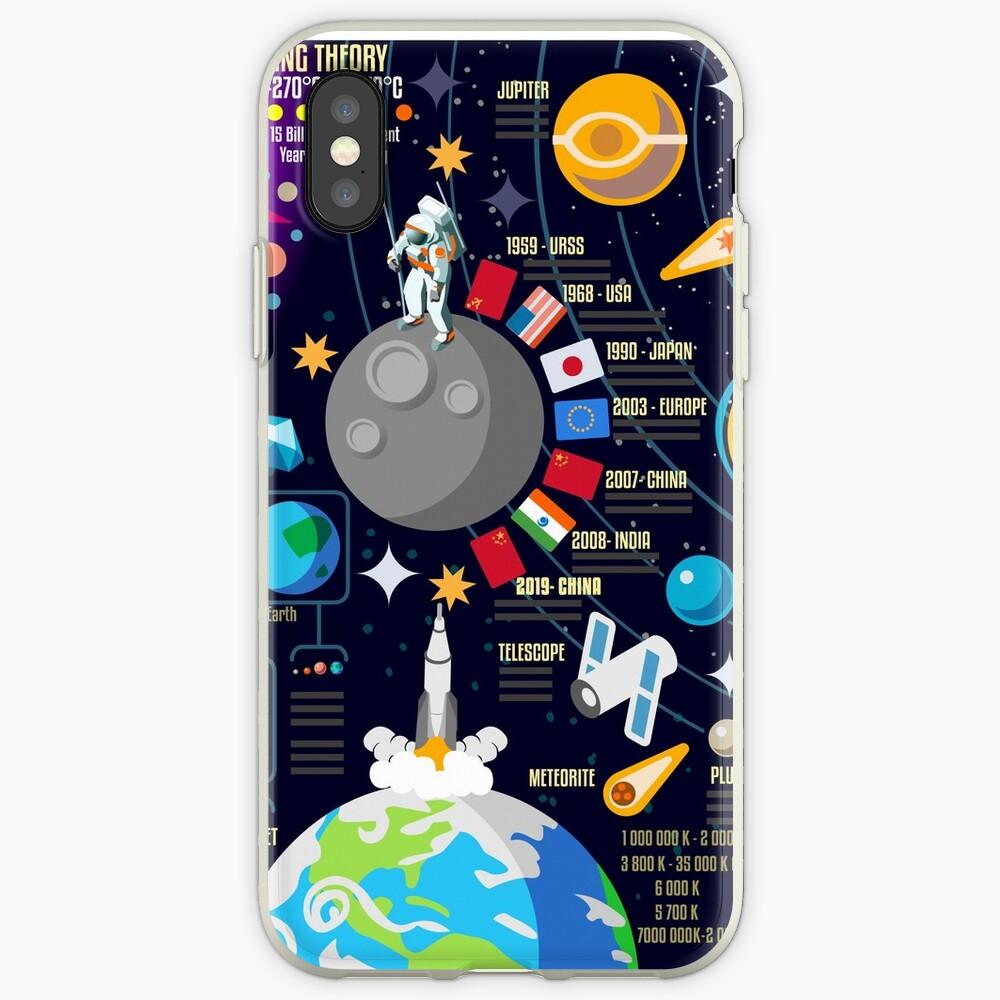 Weltraumuniversum Infographics Big Bang iPhone-Hülle & Cover