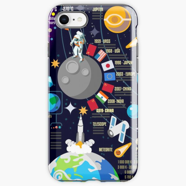 Space Universe Infographics Big Bang iPhone Tough Case