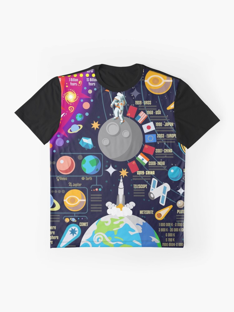 Alternate view of Space Universe Infographics Big Bang Graphic T-Shirt