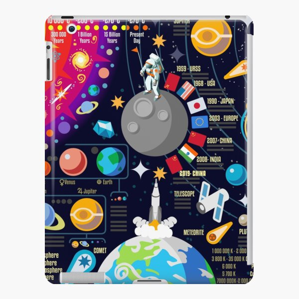Space Universe Infographics Big Bang iPad Snap Case