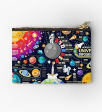 Space Universe Infographics Big Bang Studio Pouch