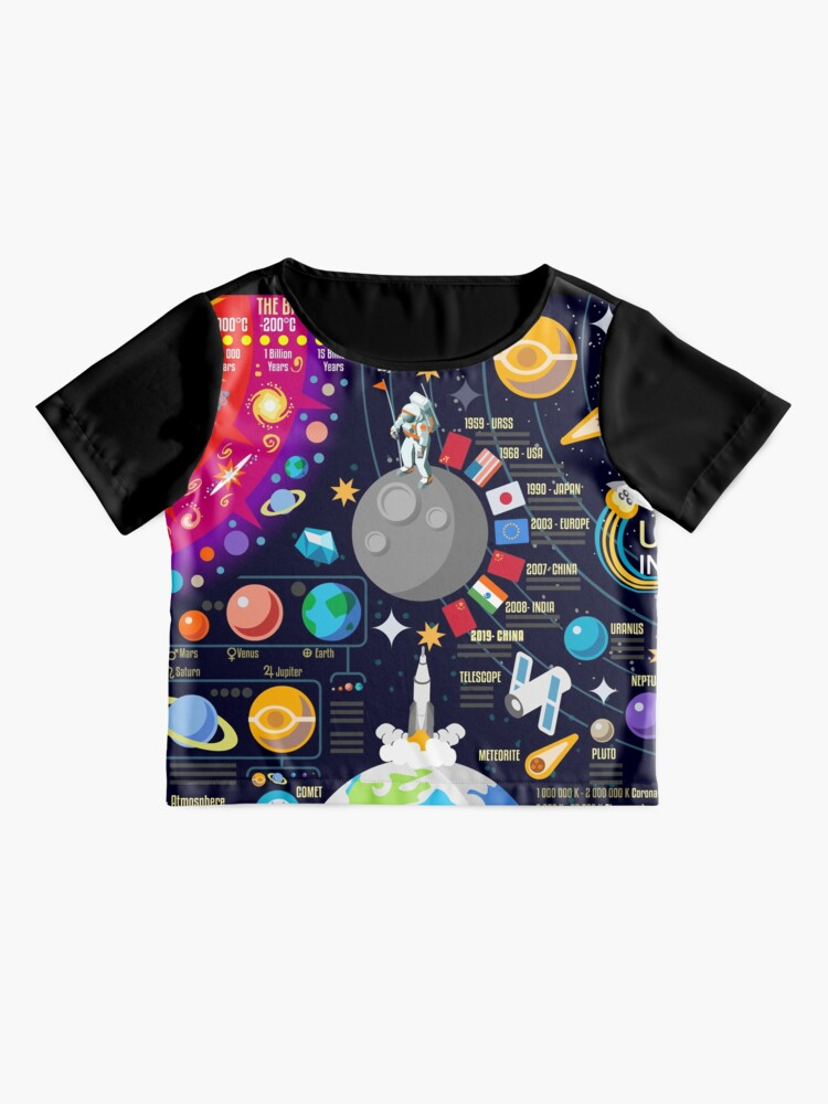 Alternate view of Space Universe Infographics Big Bang Chiffon Top