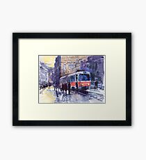Prague Tram 02 Framed Print