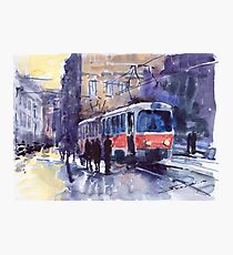 Prague Tram 02 Photographic Print