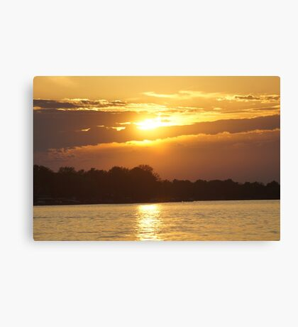 Sunset On The Niagara Canvas Print