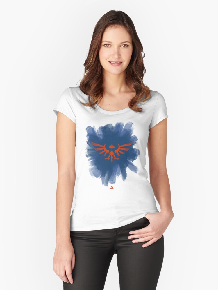 Hylian Women's Fitted Scoop T-Shirt Front