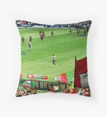 Rabbitohs supporters and team at opening game. Throw Pillow