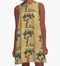 The Lone Majorcan Tree A-Line Dress