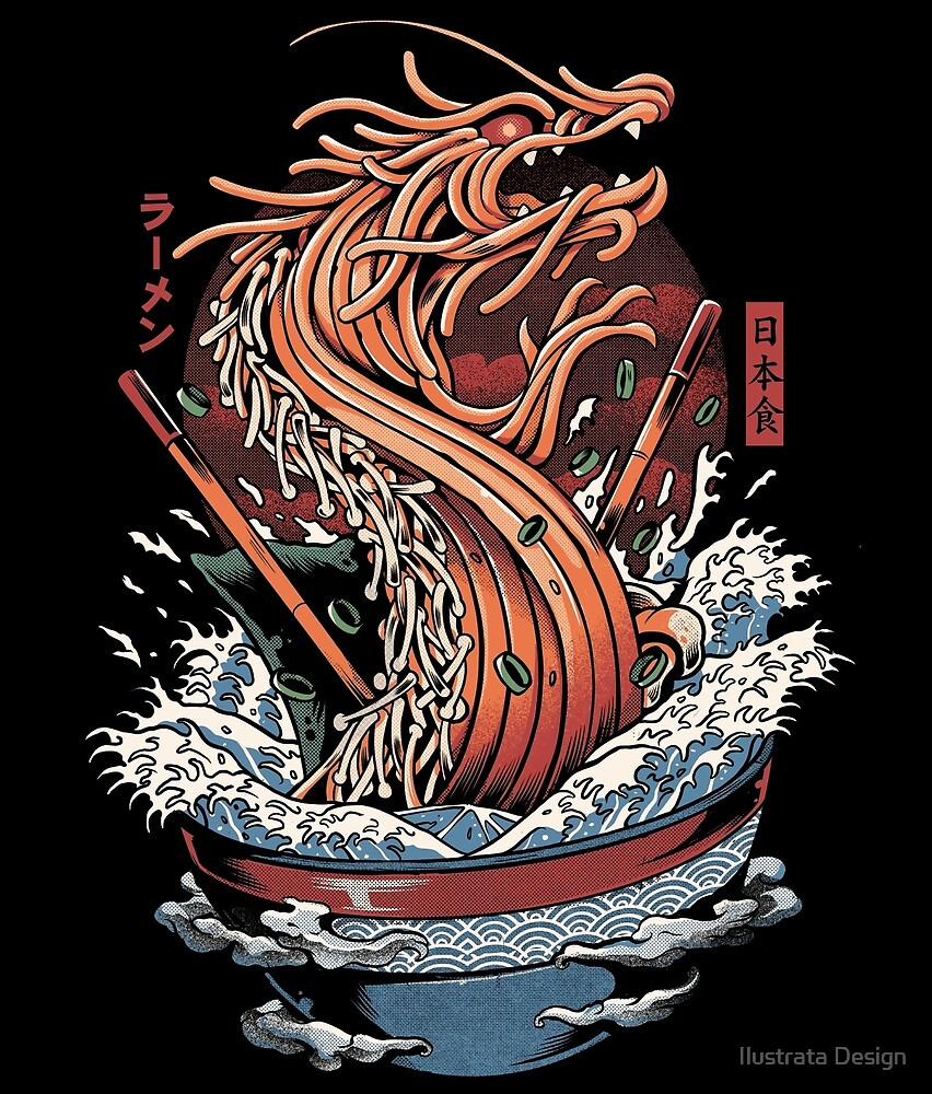 Ramen Dragon by Ilustrata Design