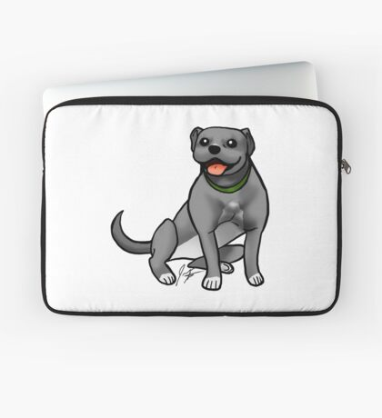 Pitbull - Gray Laptop Sleeve