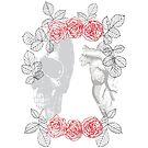 Skull and Heart Mirror by hazelbasil