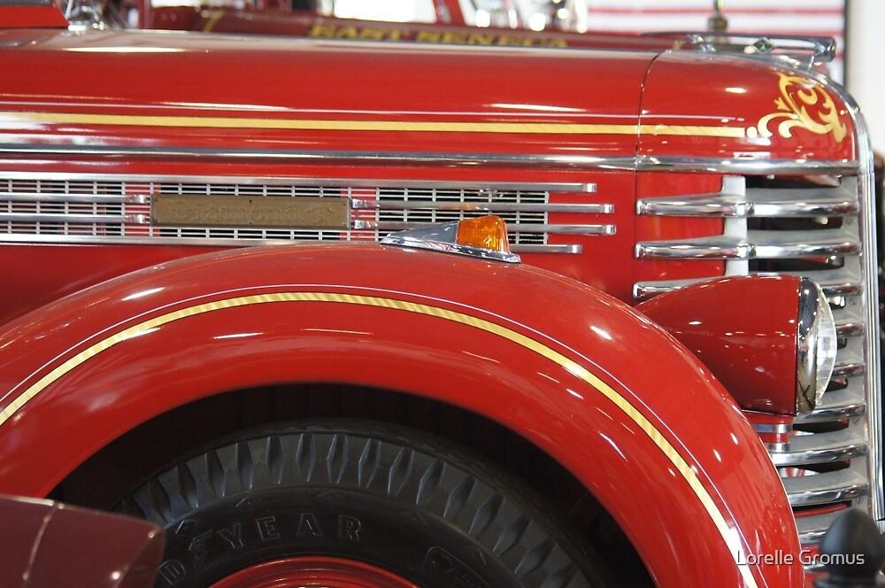 Antique Fire Truck by Lorelle Gromus