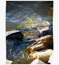 Glistening Water, On the Rocks Poster
