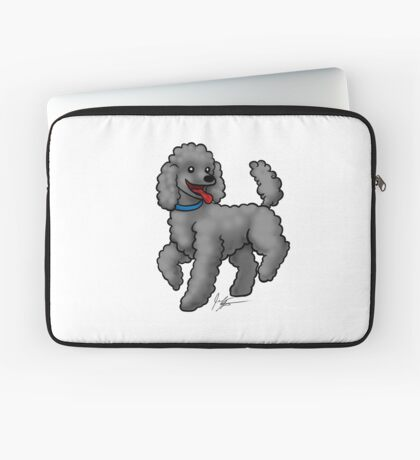 Poodle Black Laptop Sleeve