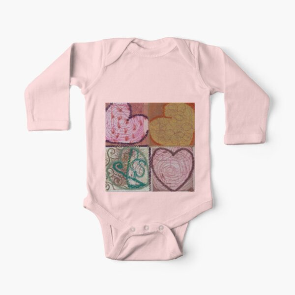 Square Root of 16 Equals Love Long Sleeve Baby One-Piece