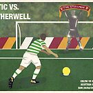 Celtic vs Motherwell Match Poster by madebyfrankie