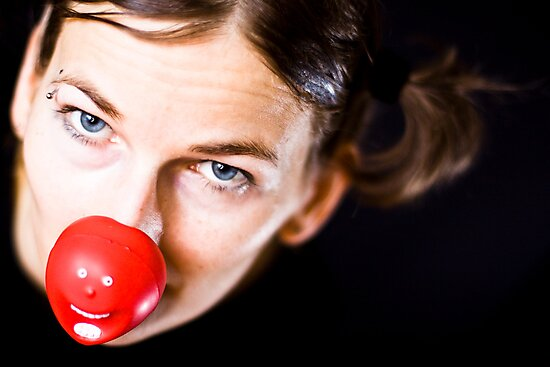Red nose day by Gabor Pozsgai