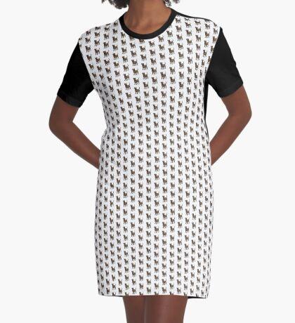 Chocolate Lab Graphic T-Shirt Dress