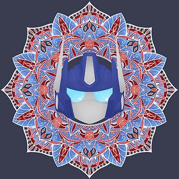 Optimus Prime Mandala ~ Transformers by Chioccetta