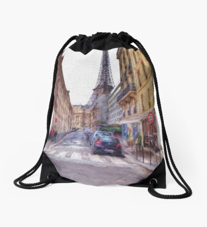 Eiffel Tower Paris Drawstring Bag