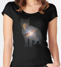 Cat Space Women's Fitted Scoop T-Shirt